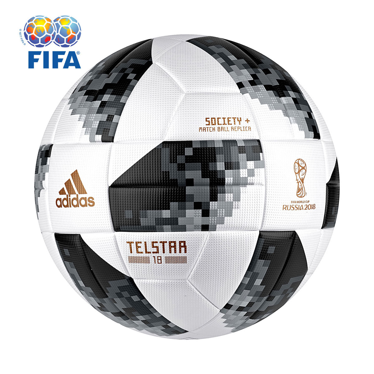 Bola Futebol Society Adidas Telstar 18 TOP Copa do Mundo FIFA ... 0aac3f6dbaefd