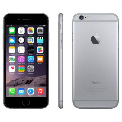 Iphone 6 Apple Com Tela 4,7 Ios 8 Touch Id Camera Isight 8mp Wi-fi 3g-4g Gps Mp3 Bluetooth e Nfc - Cinza Espacial
