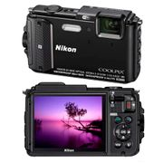 Camera-Digital-Nikon-Coolpix-AW130-Preta-–-16-0MP-Tela-OLED-3--Zoom-Optico-5x-A-Prova-D'aguaChoque-e-Congelamento-Wi-Fi-NFC-GPS-e-Video-Full-HD_0