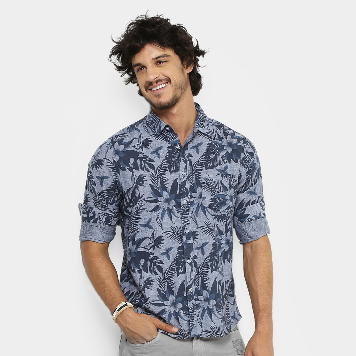 209c8d6ee4 Camisa Pacific Blue Floral Hawaii Masculina - Azul P. Clique e veja!  image-930e9c2a79ef77f89bcc324317b18fbc