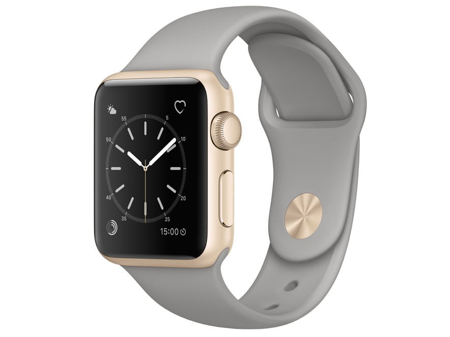 15a884ff530 Apple Watch Series 1 38mm Alumínio 8GB Esportiva - Cinza-Concreto ...