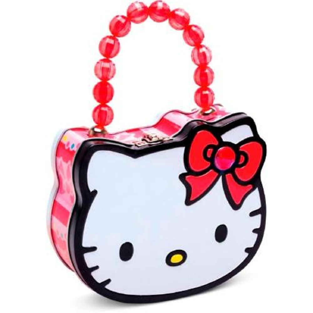 1206a4913 Doçura Fashion - Bolsa Metálica Hello Kitty com 3 Pirulitos ...