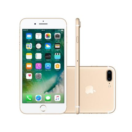 Iphone 7 Plus Apple 128gb Dourado 4g 5,5 - Câm. 12mp + Selfie 7mp Ios 10 Proc. Chip A10 - Bivolt