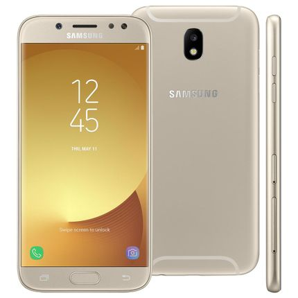 Smartphone Samsung Galaxy J5 Pro Dourado 32gb, Tela 5.2, Android 7.0, Câmeras de 13mp Com Flash Led, Dual Chip, Processador Octa Core e 2gb de Ram