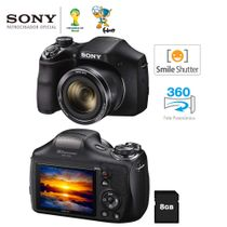 Camera-Digital-Sony-Cyber-shot-DSC-H300-Preta---20-1-MP-Super-Zoom-Optico-de-35x-LCD-3-0--Foto-Panoramica-360º-Videos-HD---Cartao-8GB_0