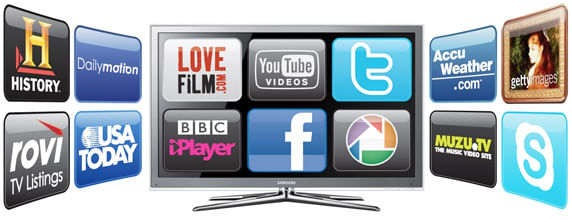 Smart TV com internet e streaming