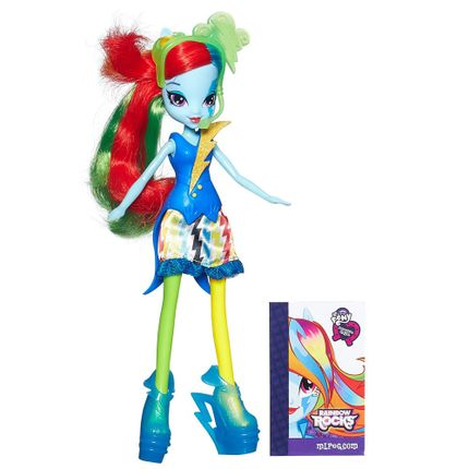Boneca My Little Pony - Equestria Girls - New Rainbow Dash - Hasbro ...