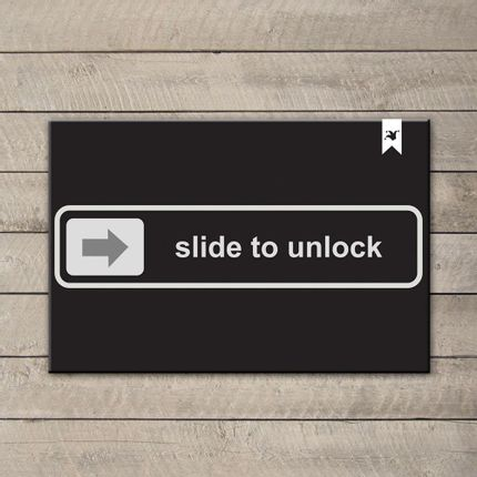 Capacho-Decorativo-Haus-For-Fun-Slide-To-Unlock-60x40cm-–-Preto-Branco-Cinza_0