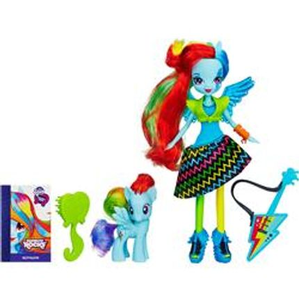 Brinquedo Fig MLP Equestria Girl com Pônei Sort - A6871- Rainbow ...