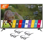Smart-TV-LED-3D-42--LG-Full-HD-3-HDMI-3-USB-Wi-Fi-Integrado-42LF6500---4-Oculos-3D_0