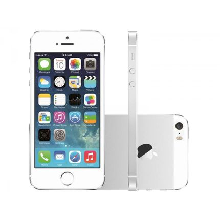 Iphone 5s Prata 16gb 3g Ios 8 4g Wi-fi - Bivolt