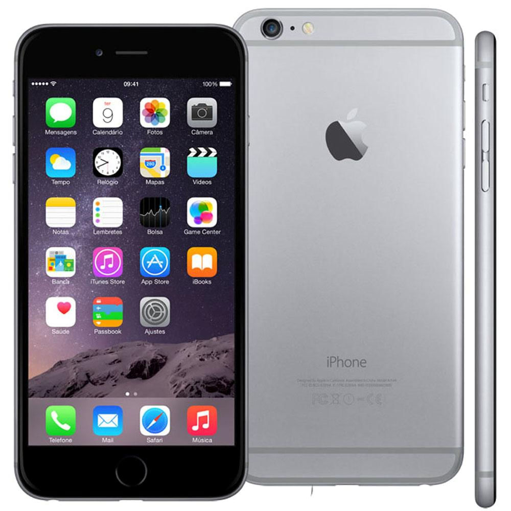 "b8d066f4e iPhone 6 Plus Apple com Tela 5,5"", iOS 8, Touch ID, Câmera iSight ..."