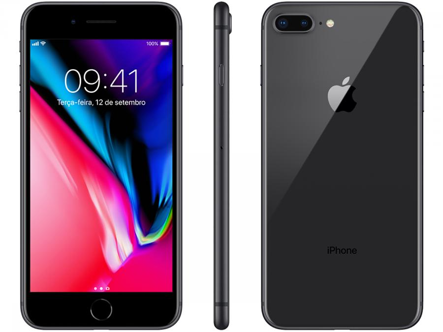 742c81b0b iPhone 8 Plus Apple 64GB Cinza Espacial 4G - Tela 5,5
