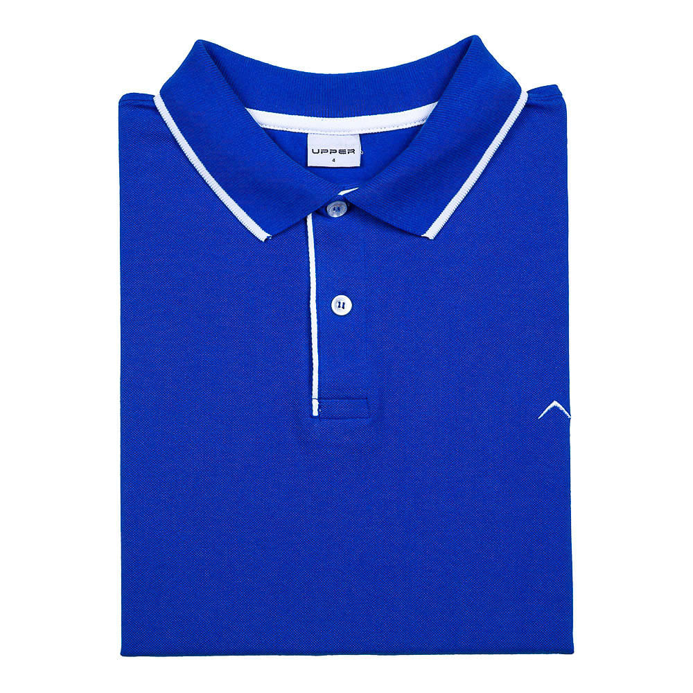 dc0ece60cd Camisa Polo Masculina Azul Royal Lisa Upper - Comprar no ShopFácil ...