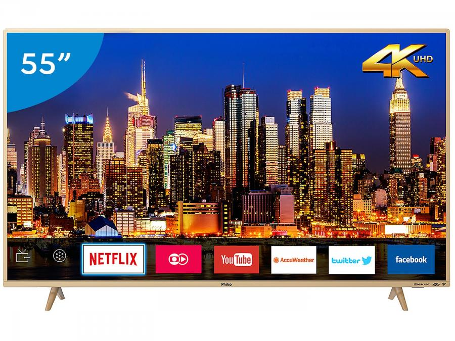TV 55 Polegadas - Smart 4K LED Philco