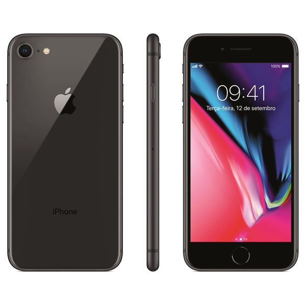 Iphone 8 apple com 128gb, tela retina hd de 4,7,...
