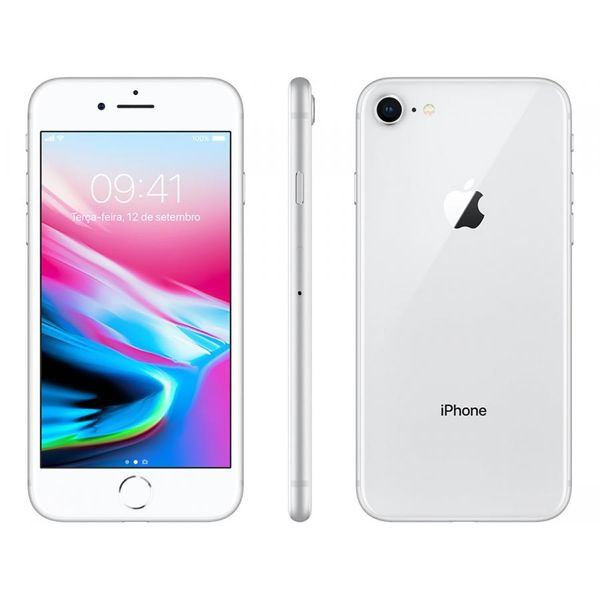 Iphone 8 apple 256gb prata 4g tela 4,7