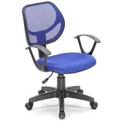 Cadeira De Escritorio Office Plus Azul   Mainstays_0