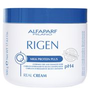 Rigen Real Cream ph4 Alfaparf - Máscara Condicionadora Reestruturante 500g