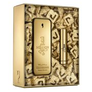 Kit Perfume Masculino One Million Xmas Collector Paco Rabanne EDT 100ml + Miniatura 10ml Incolor Único
