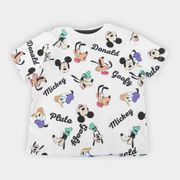 Camiseta Infantil Disney Mickey And Friends Full Masculina Branco 3A
