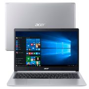 "Notebook Acer Core i5-10210U 8GB 512GB SSD Tela 15.6"" Windows 10 Aspire 5 A515-54-59X2."