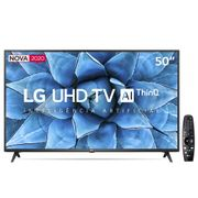 "Smart TV LED 50"" UHD 4K LG 50UN7310PSC Wi-Fi, Bluetooth, HDR, Inteligência Artificial ThinQ AI, Google Assistente, Alexa, Controle Smart Magic - 2020 Smart TV LED 50\"" UHD 4K LG 50UN7310PSC Wi-Fi, Bluetooth, HDR, Inteligência Artificial ThinQ AI, Google Assistente, Alexa, Controle Smart Magic - 2020."