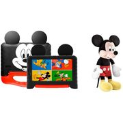 "Tablet Infantil Multilaser Mickey Plus com Capa - 16GB 7"" Wi-Fi Android 8.1 Quad Core + Pelúcia"