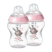 Kit 2 Mamadeiras Tommee Tippee Closer To Nature 260ml Rosa - 522823 522823