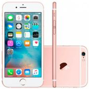 """Smartphone Apple iPhone 6S Ouro Rosa 64 GB iPhone 6S Apple 64GB 4G iOS 9 Tela 4.7"""" 3D Touch - Câm. 12MP Proc. Chip A9 Touch ID - Ouro Rosa Bivolt-Ouro Rosa"""