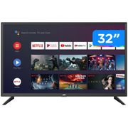 "Smart TV HD DLED 32"" JVC LT-32MB208 Android - LT-32MB208 Wi-Fi Bluetooth HDR 3 HDMI 2 USB Bivolt"
