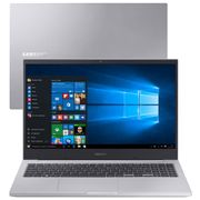 Notebook Samsung Book X20 Intel Core i5-10210U 10ª Geração 4GB 1TB 15.6`` Windows 10 Home NP550XCJ-KF0BR - Prata.