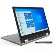 "Notebook 2 em 1 Positivo Dual Core 4GB 128GB eMMC Tela Full HD 11.6"" Windows 10 Duo C4128A-1."