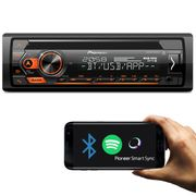 Rádio Automotivo Pioneer DEH-S4280BT Som Bluetooth MP3 Player 1 Din Interface Android Iphone USB AUX