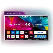 """Smart TV Philips 65"""" LED Ultra HD 4K 65PUG6412/78 Ambilight Trilateral Micro Dimming 4 HDMI 2 USB"""