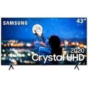 "Smart TV LED 43"" UHD 4K Samsung 43TU7000 Crystal UHD, HDR, Borda Infinita, Controle Remoto Único, Bluetooth - 2020."