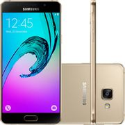 "Smartphone Samsung Galaxy A7 2016 Duos Android 5.1 Tela 5.5"" 16GB 4G Câmera 13MP Dourado Smartphone Samsung Galaxy A7 2016 Duos Android 5.1 Tela 5.5"" 16GB 4G Câmera 13MP - Dourado"