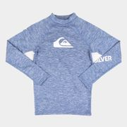 Camiseta Juvenil Quiksilver All Time Ls Masculina Jeans 8A