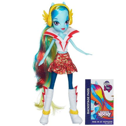 Palco Pop My Little Pony Equestria Girls Rainbow Rock + Boneca Apple ...