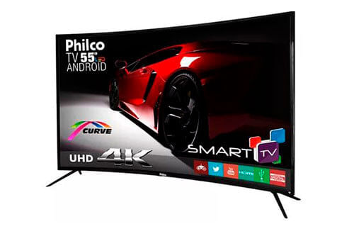TV 55 Polegadas Curva Philco